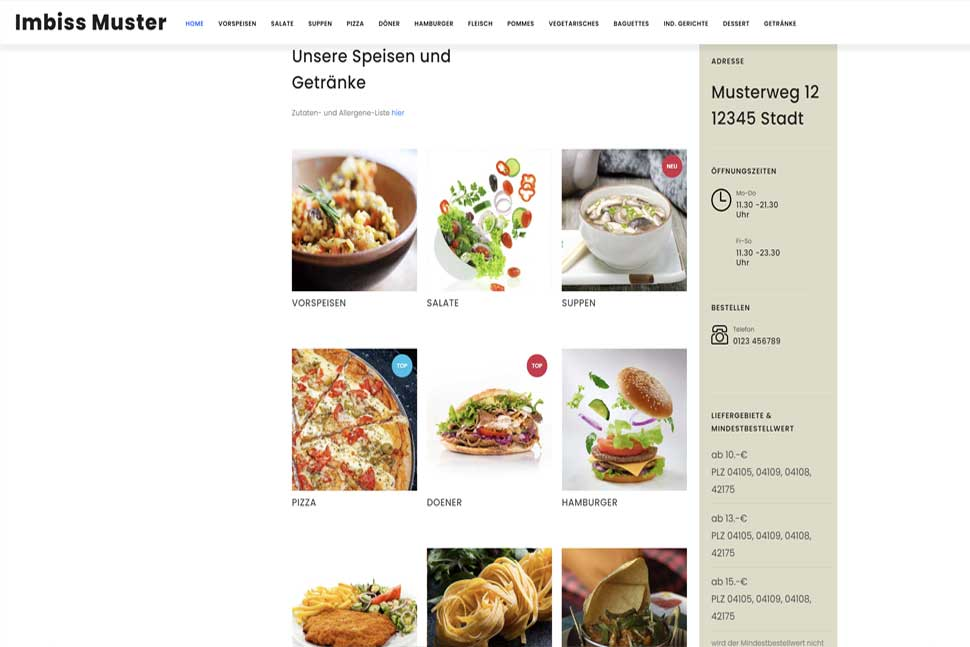 Demo Homepage Asia Imbiss