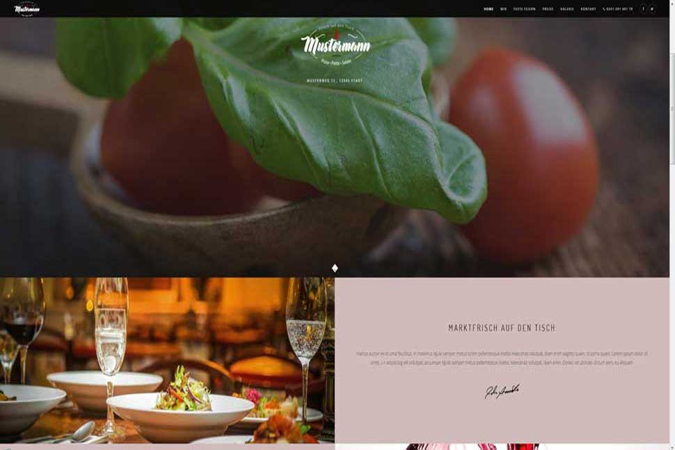 Demo Restaurant Homepage