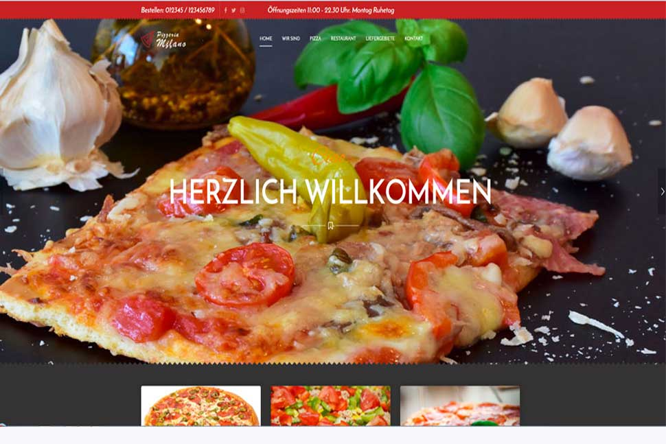 Mini Homepage Pizzeria 166.-
